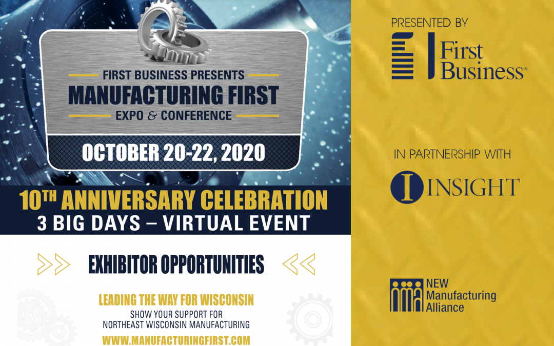 Virtual Manufacturing First Expo & Conference Scheduled For October 20 – 22, 2020