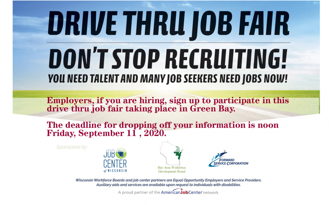 Hiring?  Sign Up For The Drive-Thru Job Fair in Green Bay