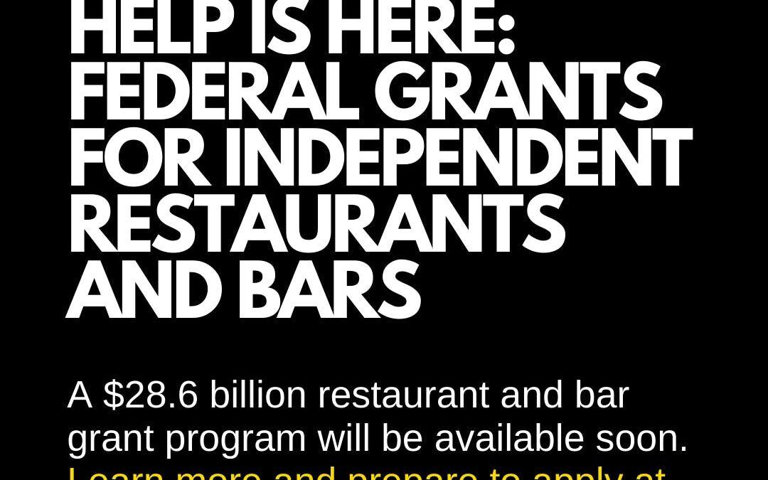 Restaurant Revitalization Fund: Grant Preparation Resources